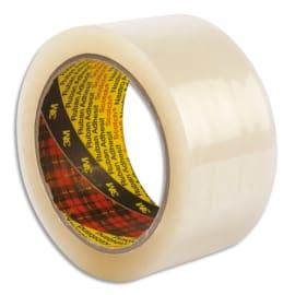 SCOTCH Adhésif d'emballage Low Noise polypropylène silencieux 50 microns H50 mm x L66 m Transparent BP626 photo du produit