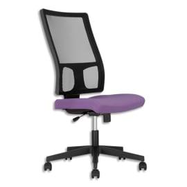 Siège Square dossier résille Noir et assise en tissu Mauve, à mécanisme synchrone, sans accoudoirs photo du produit