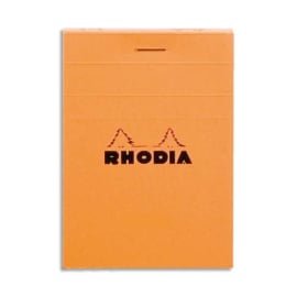 RHODIA Bloc de direction couverture Orange 80 feuilles (160 pages) format A6 réglure 5x5 photo du produit