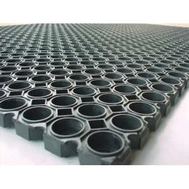 FLOORTEX Tapis Caillebotis Noir en caoutchouc d'intérieur et d'extérieur 100 x 150 cm épaisseur 22 mm photo du produit