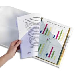 AVERY Double pochette intercalaires plastiques 12 touches à onglets personnalisables format maxi 05624501 photo du produit