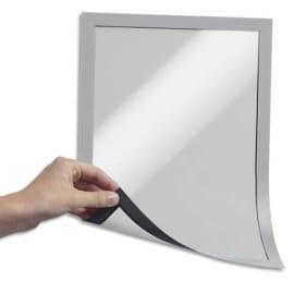 DURABLE Sachet 5 Cadres d'affichage Duraframe A4 - magnétique toute surface métallique - Argent métallisé photo du produit