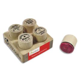 AVENUE MANDARINE Set de 4 tampons en bois Appréciations photo du produit
