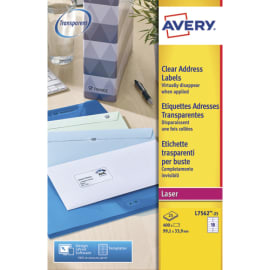 AVERY Pochette de 400 étiquettes Laser invisible 99.1X33.9 L7562-25 photo du produit