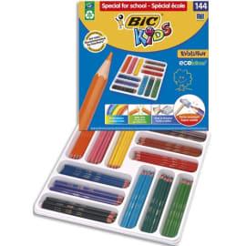 BIC Kids Evolution ECOlutions Crayons de Couleur - Coloris Assortis, Classpack de 144 photo du produit