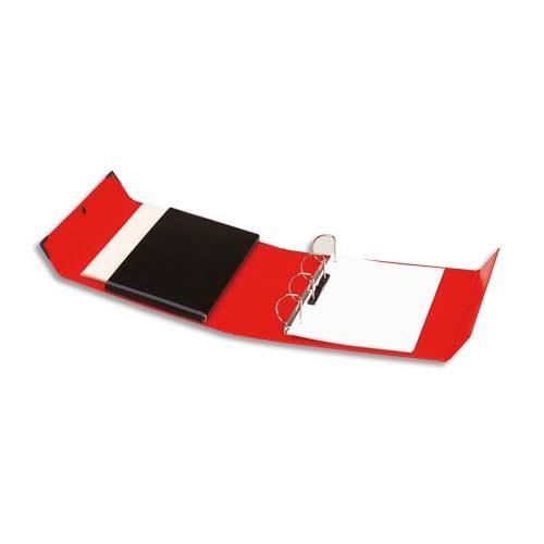 ARIANEX Classeur à 4 anneaux en D dos de 8 cm avec fermeture à pression Innovation en balacron Rouge photo du produit Principale L
