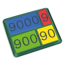 Lot de 36 nombres magnétiques de 1 à 9000, 4 couleurs assorties photo du produit