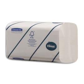 KLEENEX Colis de 15 Paquets de 186 Essuie-mains ultra doux 2 plis pliage en Z, Ft 21,5x21,5 cm Blanc photo du produit
