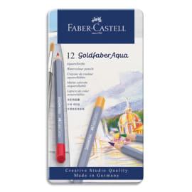 FABER CASTELL Etui de 12 crayons de couleur GOLDFABER aquarellables. Coloris assortis photo du produit
