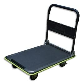WONDAY Chariot pliable Gris Noir capacité 300 kg, porte outils - Dim. déplié : L90 x H84,5 x P60 cm photo du produit