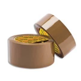 SCOTCH Adhésif d'emballage en Polypropylène 48 microns - H50 mm x 66 mètres Havane 22558 photo du produit