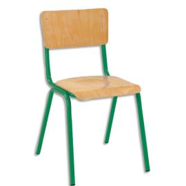 SODEMATUB Lot de 4 chaises scolaire Maxim, hêtre,vert, assise 37 x 39 cm, taille 5 photo du produit