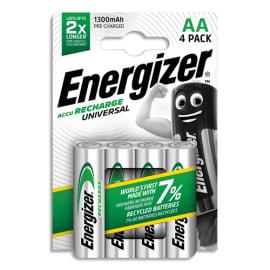 ENERGIZER Blister de 4 piles AA LR6 Universal rechargeable 1300 mAh 7638900268317 photo du produit