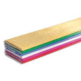 CLAIREFONTAINE Paquet de 6 feuilles de crépon métallisé 2,5x0,5m couleurs assorties photo du produit