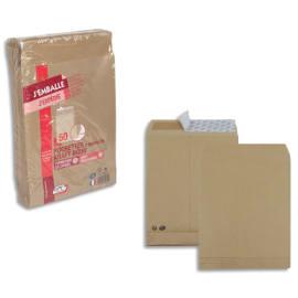 GPV paquet de 50 pochettes kraft brun auto-adhésif, format C4 229x324mm soufflet 30mm120g photo du produit