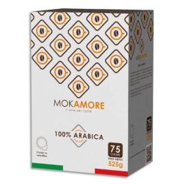 MOKAMORE Boîte de 75 Dosettes souple de café 100% Arabica compatibles avec machine à café ESE ou Pod photo du produit