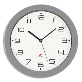ALBA Horloge murale Hornew silencieuse métal Gris, pile AA non fournie - Diamètre 30 cm photo du produit