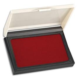 Tampon encreur réencrable ABS, pour timbre caoutchouc ou résine L11 x P7 cm encre Rouge photo du produit
