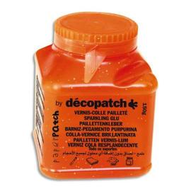 DECOPATCH Pot de vernis colle pailletée 150g photo du produit