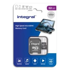 INTEGRAL Carte SDHC 32Go Class 10 INSDH32G-100V10 photo du produit