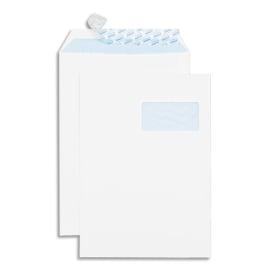 GPV Boîte de 250 pochettes auto-adhésives velin Blanc 90g format 229x324 C4 fenêtre 50x110 photo du produit