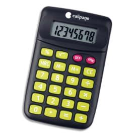 CALIPAGE Calculatrice de poche 8 chiffres KC-889 référence 108 coloris Noir/Rose/Vert photo du produit