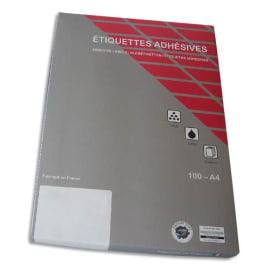 Boîte de 2100 Etiquettes adhésives couleur Jaune - Format : 63,5 x 38,1 mm. Planche A4 photo du produit