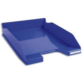 EXACOMPTA Corbeille à courrier Iderama. Coloris Bleu glossy. Dim. L34,7 x H6,5 x P25,5 cm photo du produit
