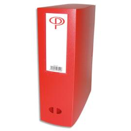 PERGAMY Boîte de classement dos de 10 cm, en polypropylène 7/10e. Coloris rouge photo du produit