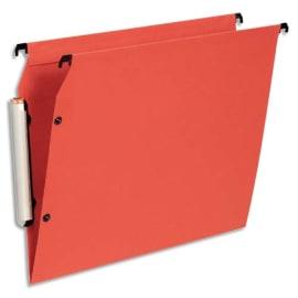 ESSELTE Paquet de 10 dossiers suspendus LMG ARMOIRE en polypro opaque. Fond V, bouton-pression. Orange photo du produit