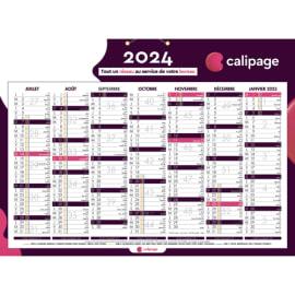 CALIPAGE Calendrier bancaire Calipage, 6 mois par face soit 12 mois - format : 21 x 26,5 cm photo du produit