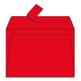 CLAIREFONTAINE Paquet de 20 enveloppes 120g POLLEN 11,4x16,2cm (C6). Coloris Rouge groseille photo du produit