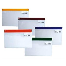 SNOPAKE Sachet de 5 Pochettes Zippa Bag S 140 microns A5 L25,5 x H19 cm transparente avec Zip assortis photo du produit