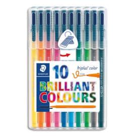 STAEDTLER Pochette de 10 feutres de coloriage Triplus. photo du produit