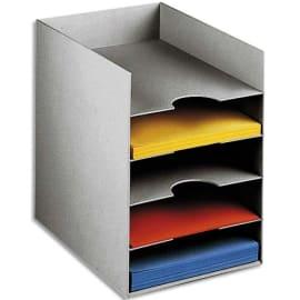 PAPERFLOW Bloc classeur 5 cases Gris pour format 24 x 32 cm - Dim. L25,8 x H31,8 x P32,5 cm photo du produit