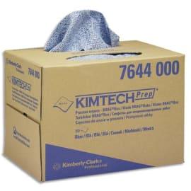 KIMTECH Boîte distributrice de 160 Chiffons Process Kimtech Bleu, non pelucheux - L30,7 x P42,6 cm photo du produit