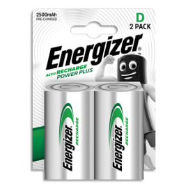 ENERGIZER Blister de 2 piles D LR20 Power plus recheargeable 2500 mAh 7638900138757 photo du produit
