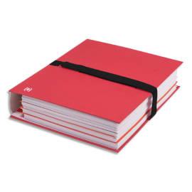 OXFORD Chemise extensible COLOR LIFE papier toilé. Fermeture par sangle velcro Noire. Coloris Rouge photo du produit