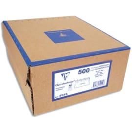 CLAIREFONTAINE Boîte de 500 enveloppes PEFC C5 162x229mm vélin Blanc 80g auto-adhésive 2642 photo du produit