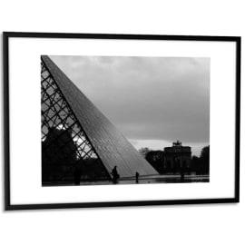 PAPERFLOW Cadre photo contour aluminium coloris Noir, plaque en plexiglas. Format 30 x 42 cm photo du produit