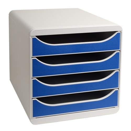 EXACOMPTA Module de classement Big box Gris/Bleu photo du produit Principale L