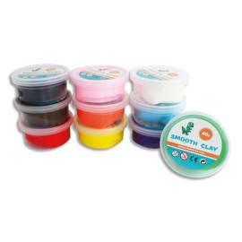 SODERTEX Pack de 10 Pâte à modeler autodurcissante Smooth Clay 40g coloris assortis photo du produit
