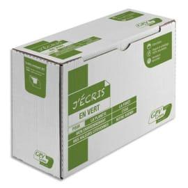 GPV Boîte de 500 enveloppes recyclées extra Blanches Erapure, format DL 110x220mm 80g 2821 photo du produit