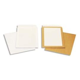 BONG Boîte de 100 pochettes Blanches auto-adhésives dos cartonné 250X353 120G photo du produit