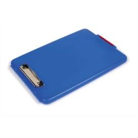 PERGAMY Porte Bloc Boîte en plastique pour documents format A4+, Bleu - Dimensions L24,1xH34,3xP3,2cm photo du produit