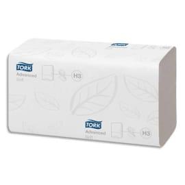 TORK Colis de 15 Paquets de 250 Essuie-mains doux Advanced 2 plis plié en V - Format 24,8 x 23 cm Blanc photo du produit