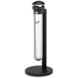 RUBBERMAID Cendrier sur pied Infinity en inox et métal Noir - Diamètre 40 cm, hauteur 100 cm photo du produit