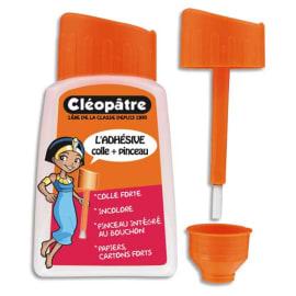 CLEOPATRE Colle synthétique transparente / flacon avec pinceau 80 ml photo du produit