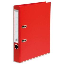 Classeur à levier en polypropylène intérieur/extérieur. Dos 5 cm. Format A4. Coloris Rouge. photo du produit