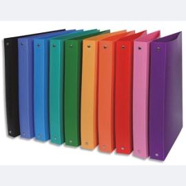 Classeur 26x32cm polypropylène opaque 5/100°. Dos 4cm. 10 coloris photo du produit